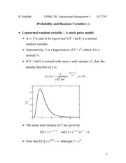 Lecture 1 on Probability and random variable (4)