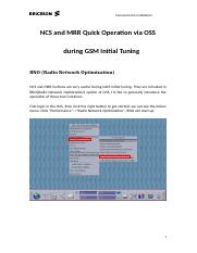 NCS and MRR Quick Operation via OSS during GSM initial tuning .doc