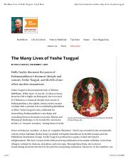 The Many Lives of Yeshe Tsogyal - Lion's Roar.pdf