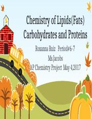 NEW Chemistry of Lipids(Fats) Carbohydrates and Proteins.pptx