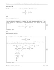 Practice Final Solutions Calculus