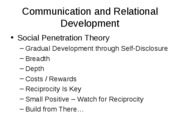 Communication and Relational Development