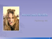 Lecture 13 Stress and Health