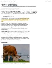 Chptr 10  WSJ The Trouble With the U.S. Food Supply - WSJ.pdf
