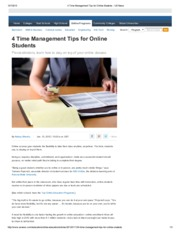4 Time Management Tips for Online Students - US News