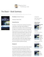 The Shack – Book Summary | Shepherd Project Ministries
