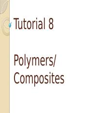 Tutorial 6 - Polymers and Composites