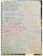 Notes Midterm 1 EMCH 212 part 1