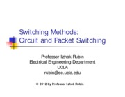 Section 4- Circuit and Packet Switching