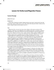 Lesson 16 Perfect and Pluperfect Tenses - K. Gentry