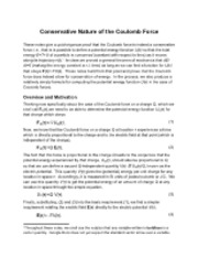 Conservative Nature of the Coulomb Force