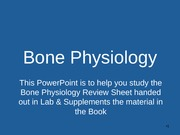 Appendix A- Bone Physiology Lecture Supplement