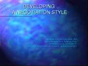 5-Developing a Negotiation Style