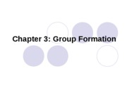 CMN 101 Lecture 3 Group Formation