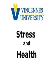 VU PSYC 142 - Stress and Health.pptx