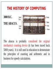 L1 - history of computers