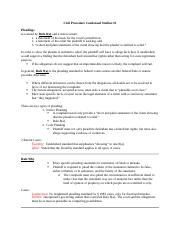 Civil Procedure Condensed Outline.docx