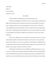 This i believe essay