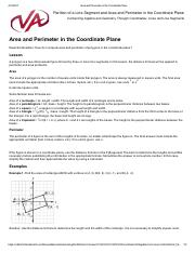 Area and Perimeter in the Coordinate Plane