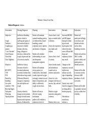 CAREPLAN ASTHMA.docx - Pediatric Clinical Care Plan ...