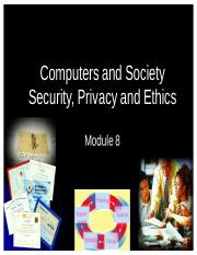 08 Computers and Society, Security, Privacy and Ethics