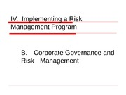 FRM Powerpoints 2011 Unit IVB Corporate Governance and Risk Management