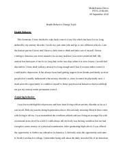 Health Behavior- final draft