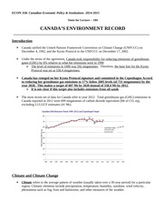 Econ 318_F2014_Chapter_104_Canadas Environment Record