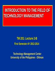 201-2-B_Intro-to-the-Field-of-Technology-Mgt_I-13-14.ppt