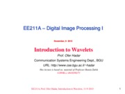 EE211A- Week 7 Introduction to Wavelets 11.9.2015
