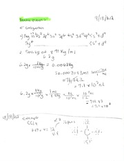 Homework Practice problems with e- Configuation
