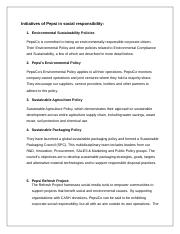 Initiatives of PepsiCo in social responsibility.docx