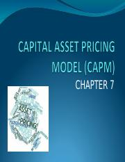 FE445 - Chapter 7 - CAPM