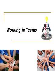 Working in Team.ppt