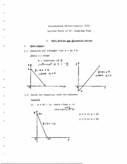 Math and Econ Review - Equations