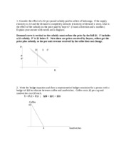 Practice Supply and Demand Answers