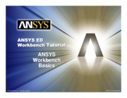 ANSYS 10.0 Workbench Tutorial - Exercise 1, Workbench Basics