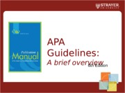 HOW TO APA 6th Edition PowerPoint- 2015