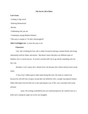 essay secret life of bees torres character analysis of  3 pages the secret life of bees