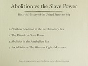 23. Abolition and the Old South