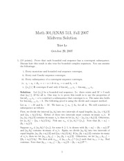 Math 301 Midterm Solutions