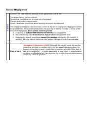 11- Tort of negligence notes.pdf