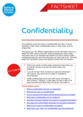 Confidentiality _Factsheet