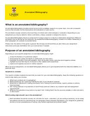 annotated bibliography unsw