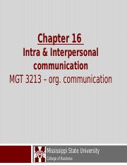 Chapter 16 Org Com.ppt