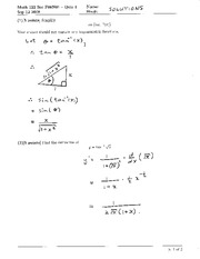 Math 122 Quiz 1B Solutions