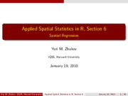 Applied Spatial Statistics in R 6