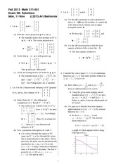 Exam 3 Version B on Topics in Applied Mathematics 1