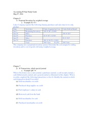 Accounting II Final Study Guide