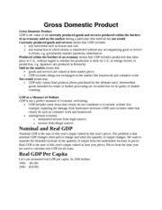 Basic Economics Gross Domestic Product